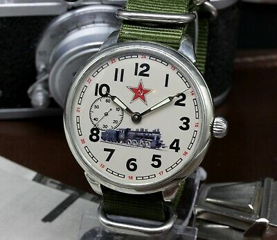 Train Vintage Military Mens Watch Custom 3602 Molnija, Soviet watch Marriage