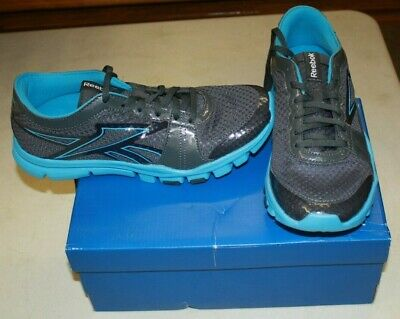 Nib Reebok Yourflex Trainette Womens Size 7.5 Gravel Buzz Blue Free Shipping