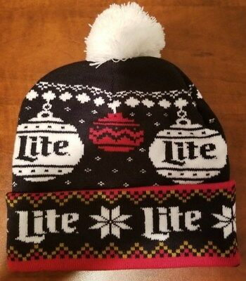 ff4a3e2381ac4 MILLER LITE BEER Winter Beanie Knit Ski Hat Cap   Canny Fanny Pack ...
