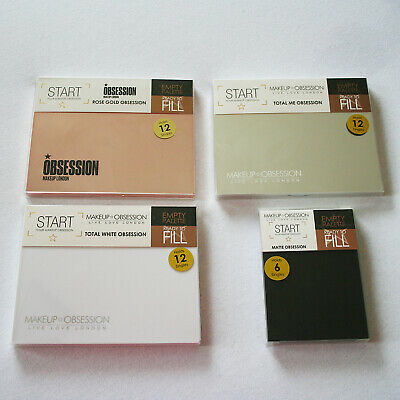 Makeup Obsession Refilliable Empty Eyeshadow Contour Palettes Medium Large New