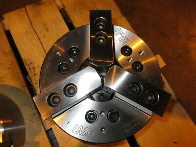 """Lmc Hydraulic Power Chuck 8"""" 3 Jaw Model Pc-8-52-01 Jaws & Back-Plate Included"""