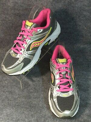 5ce9765e66fc Saucony Oasis Womens Size 9.5 Running Athletic Shoes Gray Pink Volt Mesh  Leather