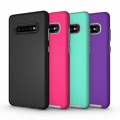 For Samsung Galaxy S10+ Plus S10e Rugged Hybrid Silicone Armor Phone Case Cover
