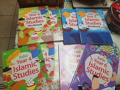 Safar Islamic Studies Text Book and Work Book 6. Set of 2. NEW