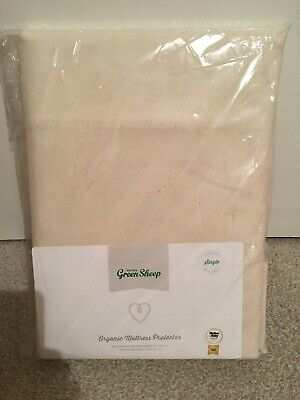 New The Little Green Sheep Organic Mattress Protector For Single Bed 90x190cm
