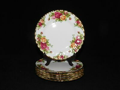 "6 Royal Albert Old Country Roses 6 1/4"" Bread And Butter Plates"