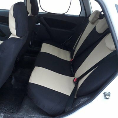 9x Car Seat Covers Full Set Front&Rear Seat Back Head Rest Protector Gray FK