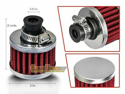 "3/8"" Inch (10mm) Inlet Air Breather Filter Universal Crankcase RED For Buick"