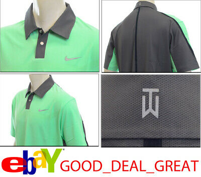 ddc0c2371 NIKE TIGER WOODS TW Performance Graphic Polo Shirt 585785-331 Size L ...