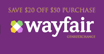 SAVE $20 OFF $50 Wayfair COUPON for New Customers Only. FAST ONLINE DELIVERY!
