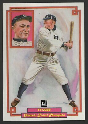 Donruss Grand Champions Ty Cobb 1984 35 X 5 Baseball Card Mlb 48