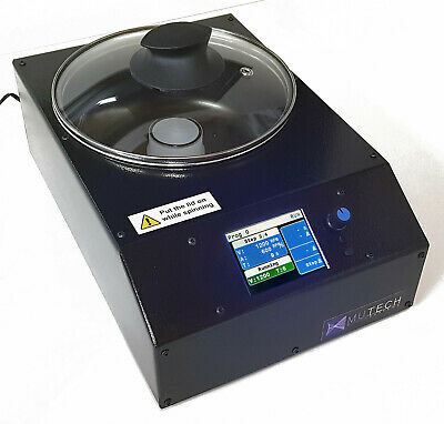 Mutech microcoater digital Spin Coater with vacuum chuck, adapters and programs