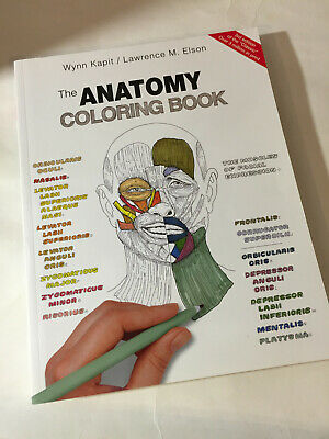 THE ANATOMY COLORING Book by Lawrence M. Elson, Wynn Kapit (4th Ed ...