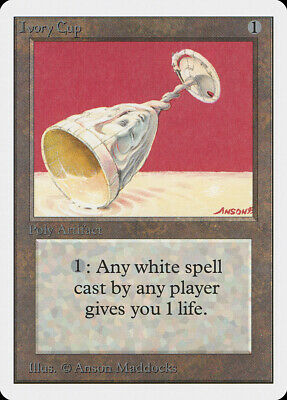 Ivory Cup Unlimited NM Artifact Uncommon MAGIC THE GATHERING MTG CARD ABUGames