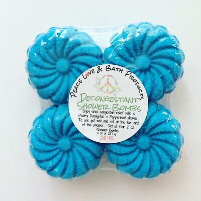 Eucalyptus Peppermint Shower Steamers - Shower Bombs - Decongestant