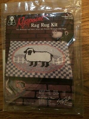 Rugpoint Rag Rug Kit-Peaceable Sheep 3017- Suzanne McNeill Designs Unopened