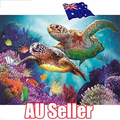 Sea Turtle Full Drill DIY 5D Diamond Painting Embroidery Cross Stitch Kit EA