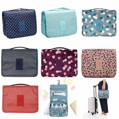 Travel Cosmetic Storage MakeUp Bag Folding Hanging Organizer Pouch Toiletry EA