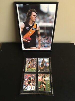 Richmond Tigers Signed Select Afl Vfl Cards Photo Gale Daffy Turner Bond Mancave