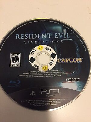 Resident Evil Revelations (Sony PlayStation 3, 2013) Disc Only! PS3