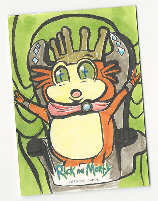 Rick and Morty Season 1 2018 Cryptozoic Sketch Card by Mike Legan (B) 1/1