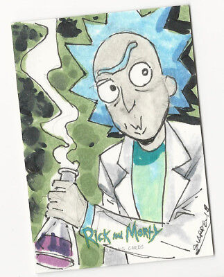 Rick and Morty Season 1 2018 Cryptozoic Sketch Card by Kevin Sharpe 1/1