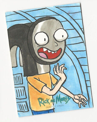 Rick and Morty Season 1 2018 Cryptozoic Sketch Card by Mike Legan 1/1