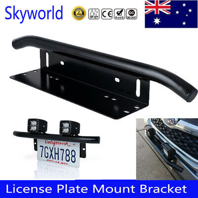 License Number Plate Bull bar Frame For Driving Light Bar Mount Mounting Bracket
