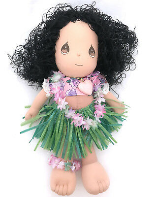 Plush Hula Girl Doll Precious Moments Hawaiian Applause Makua Ho' Omaika' God Bl