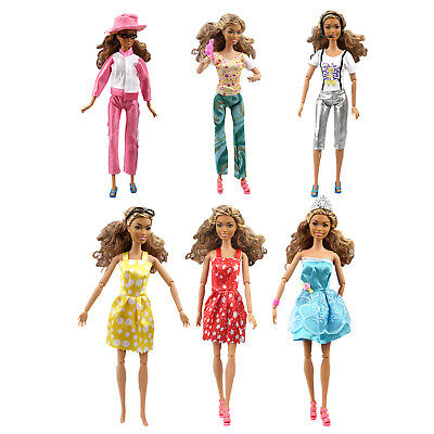 110 Pcs Set Barbie Doll Clothes Party Gown Outfits Shoes Accessories Dolls Girls