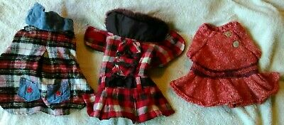 (Lot of 3) XS Dog Clothes Chihuahua Teacup Puppy Vest Jacket Coat Sweater~Plaid
