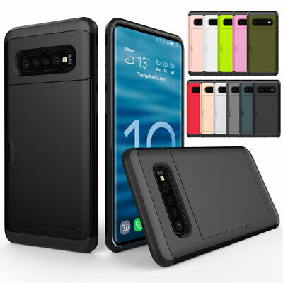 Card Holder Shockproof Slim Hard Case Cover For Samsung Galaxy S10 Plus S10 S10e