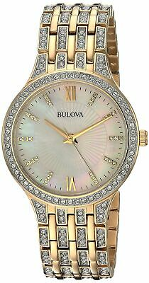Bulova Women's Quartz Stainless Steel Casual Watch, Color:Gold-Toned (Model: 98L