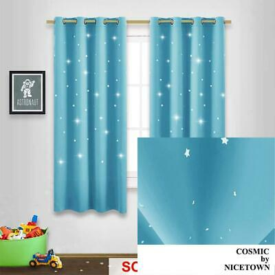 NICETOWN Kids Room Darkening Curtains 63   Sky Wonder Star Cut Out.