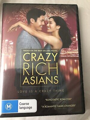 Crazy Rich Asians (2018) DVD New And Sealed