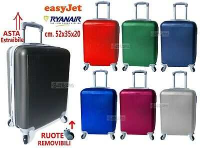 Trolley Suitcase hand luggage for Cabin Ryanair EasyJet Flights Low Cost