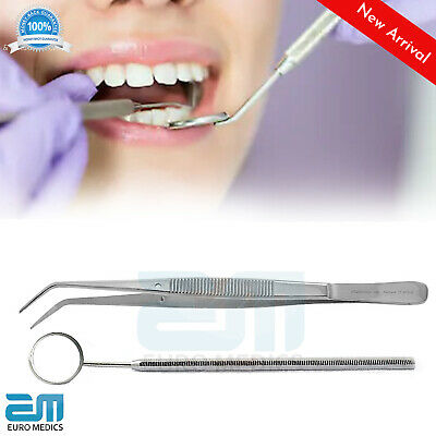 Dental London College Tweezers Oral care Mouth Mirror teeth cleaning Tools NEW