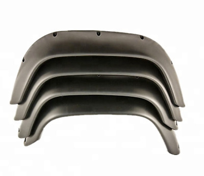 LAND ROVER DEFENDER 90 110 130 WIDE WHEEL ARCH EXTENDED ARCHES ABS BLACK x4