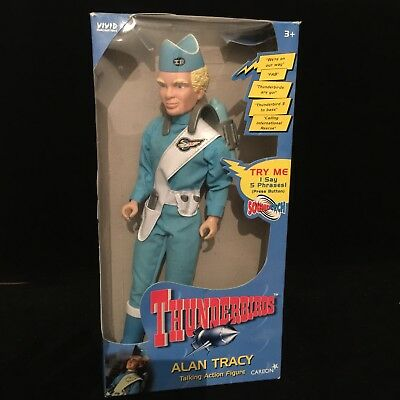 "Thunderbirds Alan Tracy Talking 12"" Action Figure Carlton Toy 1999 Boxed"