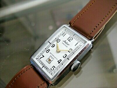Vintage And Rare Astor Watch Co Swiss Made 32 Mm 15 Jewels Wristwatch
