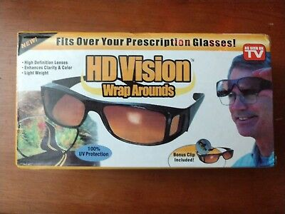 fbd9f533a3 2 X HD Vision Wraparound Sunglasses Fit Over Glasses As Seen On TV ...