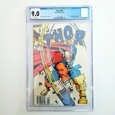 Thor #337 CGC 9.0 VF/NM White Pages 🔥 First App Beta Ray Bill 🔥 Newsstand 1983