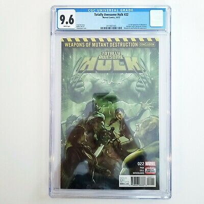 Totally Awesome Hulk #22 CGC 9.6 NM+ 🔥 1st App Weapon H 🔥 Marvel Comics 2017