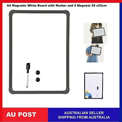 A4 Teachable Whiteboard with Marker Two Magnet Buttons school 290mm × 220mm