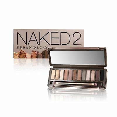 Urban Decay Naked2 Eyeshadow Palette 12x Eyeshadow 1x Double-ended Brush
