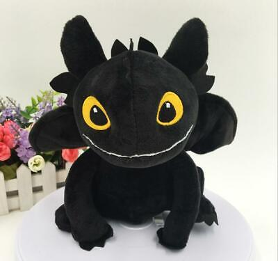 How to Train Your Dragon 3 Toothless Plush Night Fury Soft Toy Stuffed toys 8''