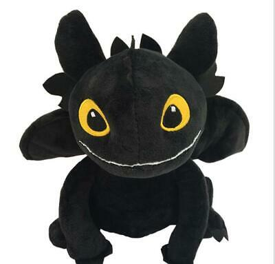 8'' How to Train Your Dragon 3 Toothless Plush Night Fury Soft Toy Stuffed toys