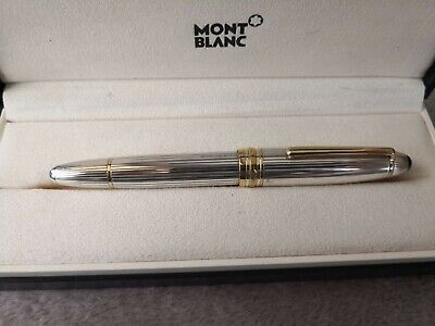 Montblanc Fountain Pen Meisterstuck Solitaire Legrand Silver Sterling 925...
