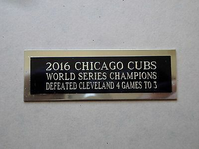 2016 Chicago Cubs Nameplate For A Baseball Ball Cube Square Or Card Plaque 1 X 3