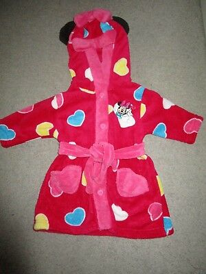 Girls Disney Minnie Mouse dressing gown with hood   Size 0